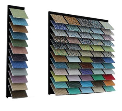 The single-sided composite mosaic display rack-M008