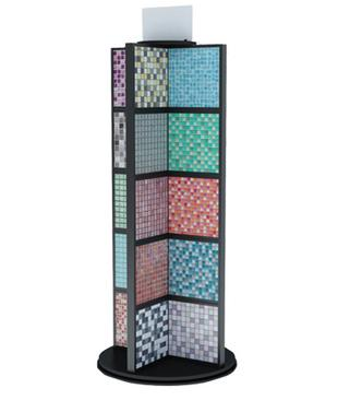 Multi surface mosaic sample display rack,Knock-down design,360 degree swivel-M016