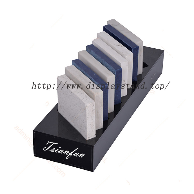 Black Acrylic Stone Sample Tabletop Rack From Trusted Manufacturers-S082