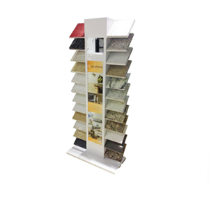 Double Rows Waterfall Quartz Stone Display Racks,Metal Waterfall Ceramic Stone Display-S068