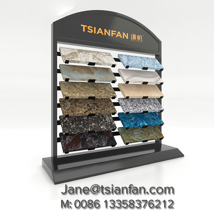 Quartz stone Counter Display Rack,Metal Counter Display Stand-S079
